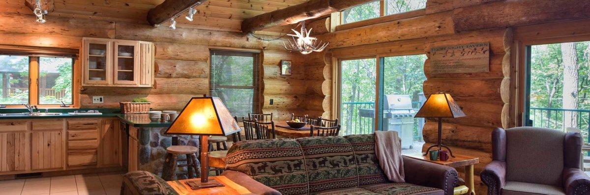 lodge dells resorts wisconsin in cedar watch cabin settlement cabins