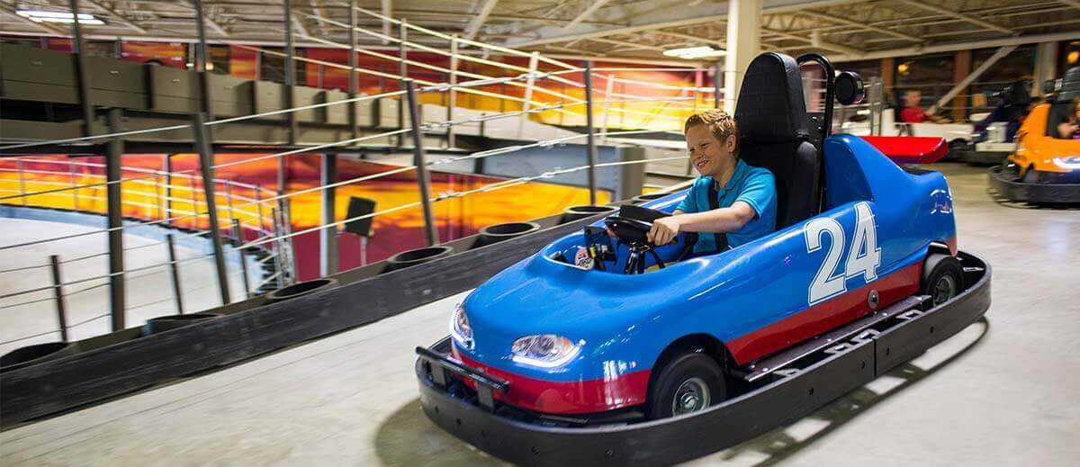 Wilderwoods Indoor Go-Kart Trail Wilderness Resort Attractions